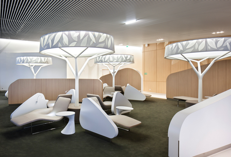 Top 10 most amazing airport lounges around the globe for Lounge pictures designs