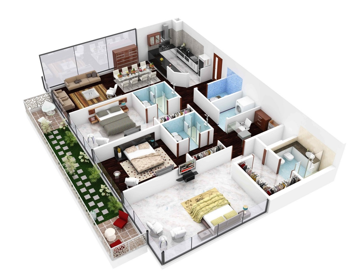 4 Efficient 3 Bedroom Floor Plans