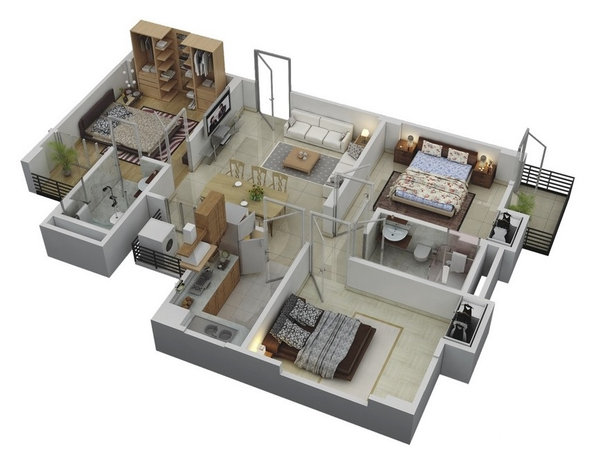 44 3 Bedroom Floor Layout Of Houses
