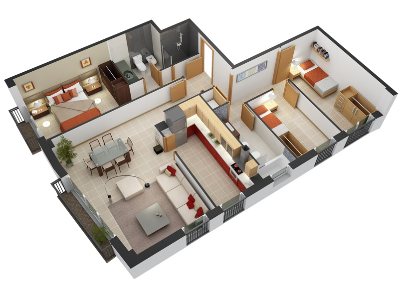 9 3 Bedroom House Floor Plans