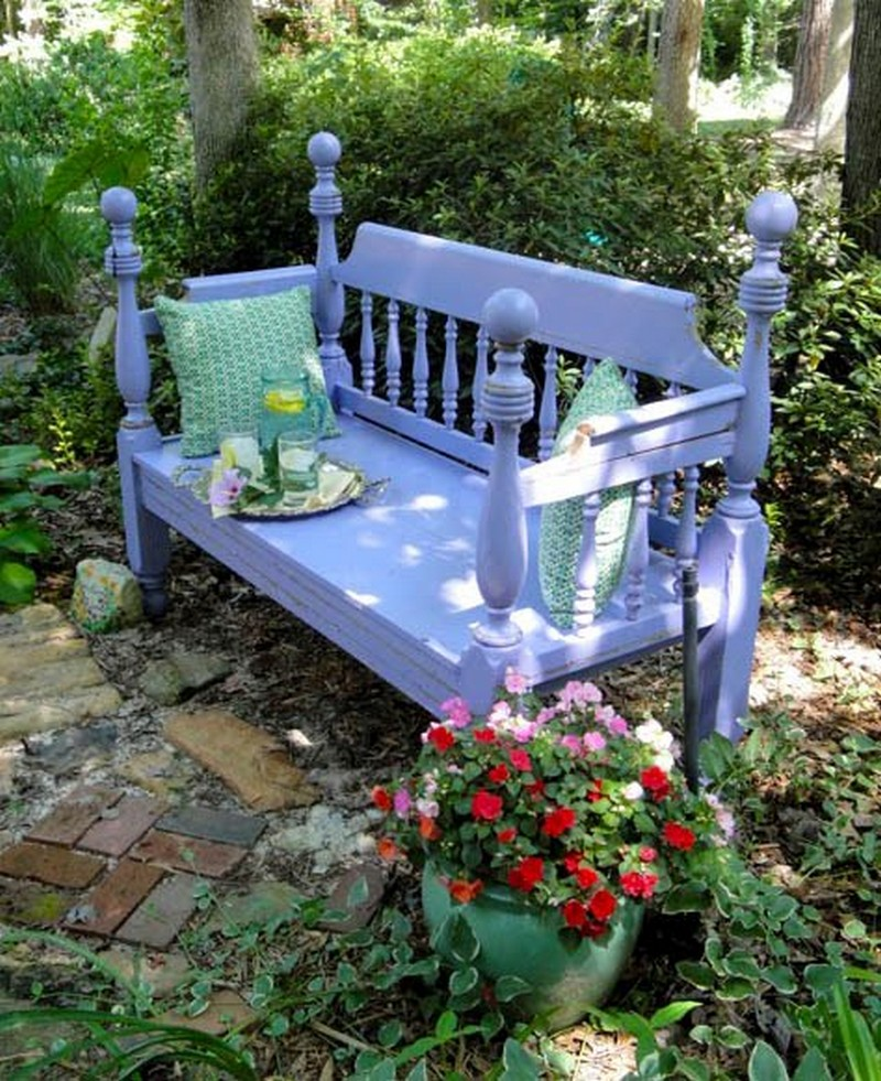 25 popular diy garden benches you can build it yourself for Diy garden bench designs