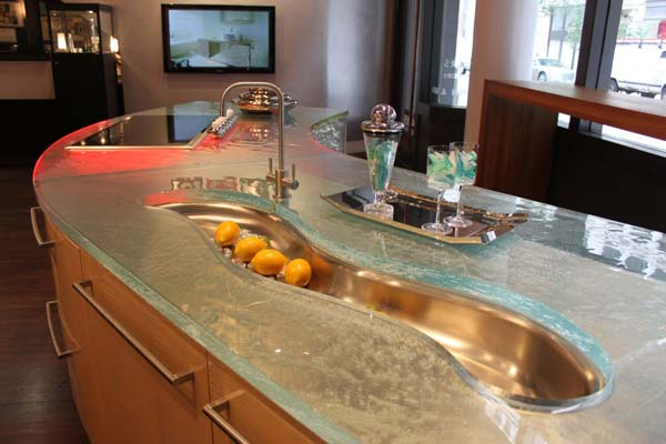 Kitchen Glass Counters Ideas 1