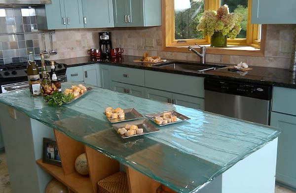 Countertop Ideas 22 modern and stylish glass kitchen countertop ideas