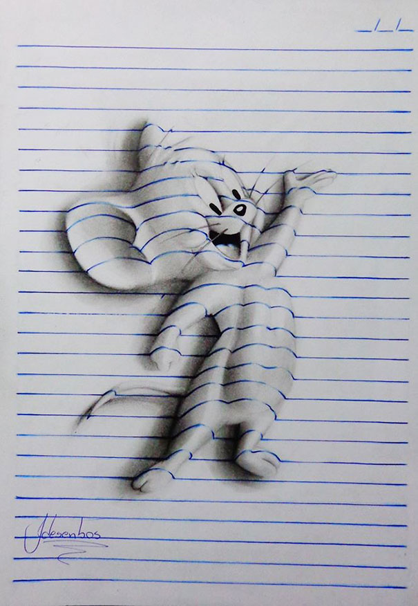 AD-3D-Lines-Notepad-Drawings-15-Years-Old-Joao-Carvalho-6