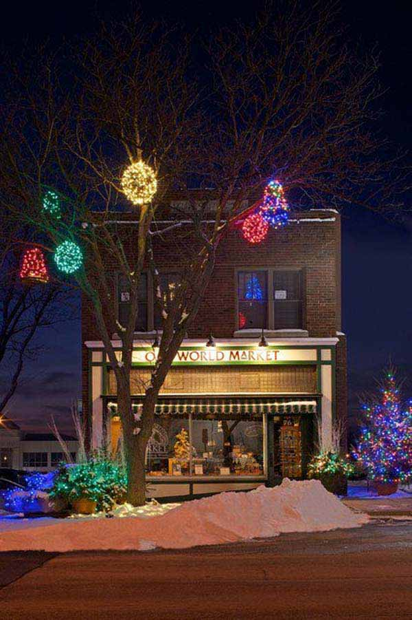 Top 46 outdoor christmas lighting ideas illuminate the holiday outdoor christmas lighting decorations 40 aloadofball Images