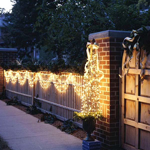 outdoor christmas lighting decorations 41 - Christmas Gate Decoration Ideas