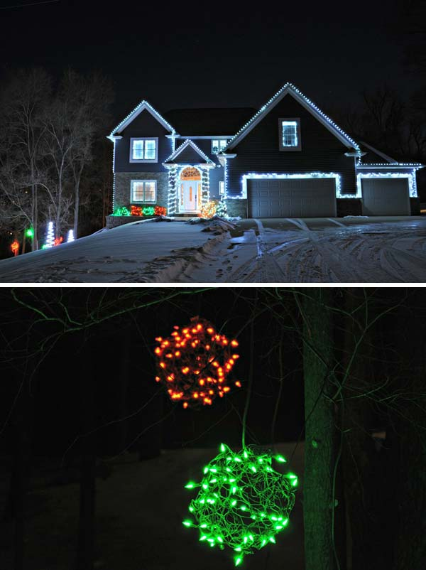 Top 46 outdoor christmas lighting ideas illuminate the holiday outdoor christmas lighting decorations 8 aloadofball Images