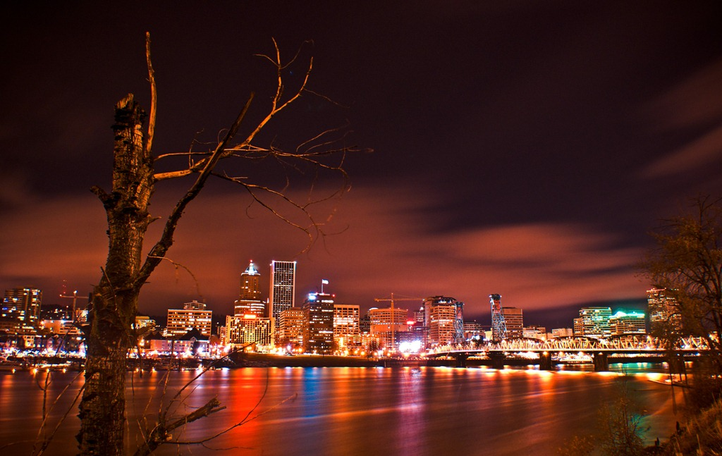 13-A-Night-View-of-Skyline-of-Portland-Oregon
