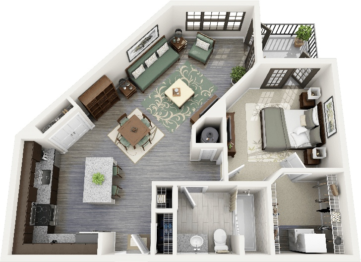 One Bedroom Apartment. 23 Uniquely Shaped 1 Bedroom Apartment 50 One  House Plans Architecture Design