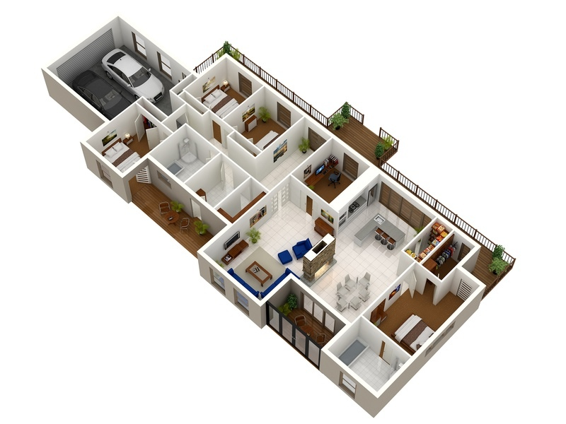 24 home layout - Flat Home Design