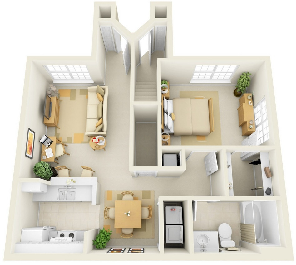 29 Paragon Apartment 1 Bedroom Plan