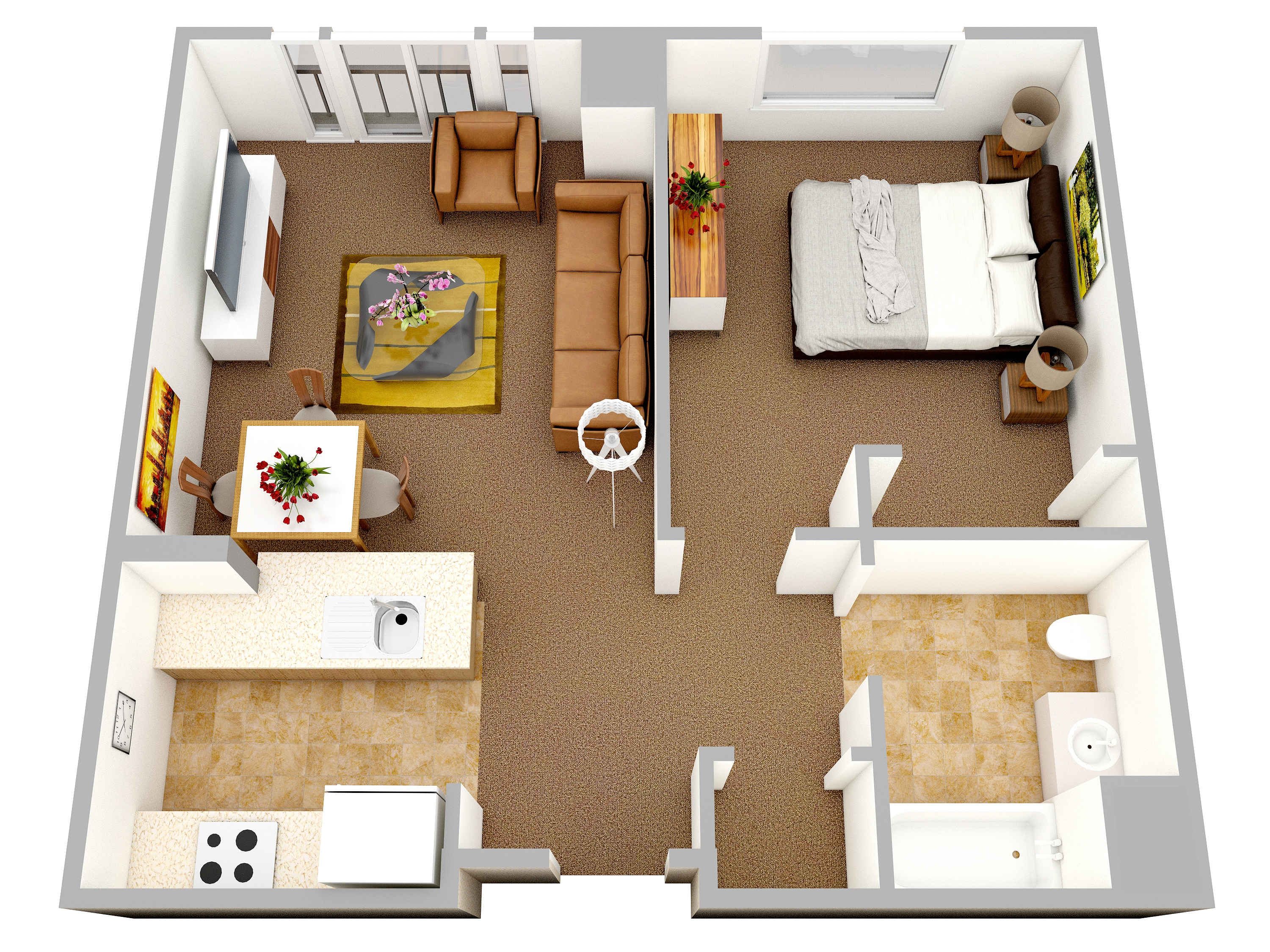 31 Keens Crossing Floor Plan. Ideal As A First Apartment, This Modern One  Bedroom ... Part 55