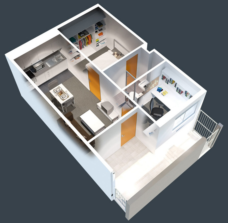 32 Tiny One Bedroom Apartment With Office
