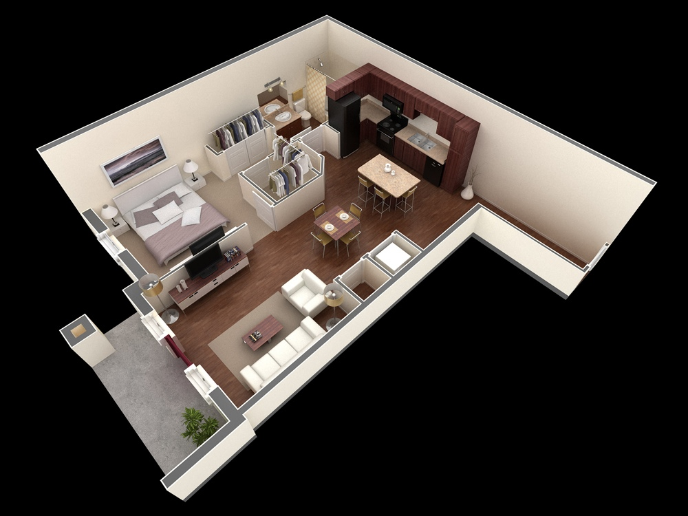 50 One 1 Bedroom Apartment House Plans Architecture