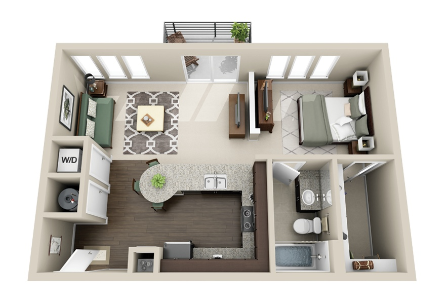"Apartment Floor Plans One Bedroom 50 one ""1"" bedroom apartment/house plans 
