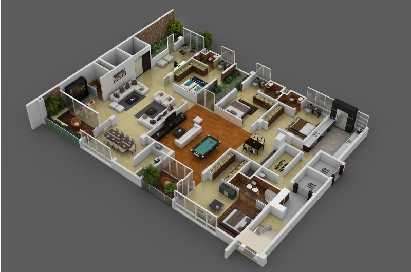 41 spacious 4 bedroom - 4 Bedroom Apartments