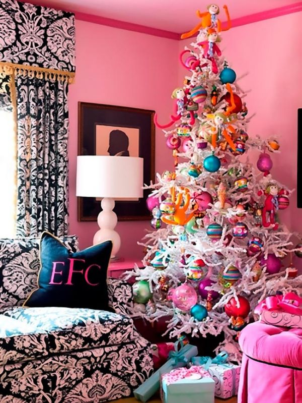 Nice Fun Christmas Tree Decorating Ideas Part - 7: AD-02-christmas-pink