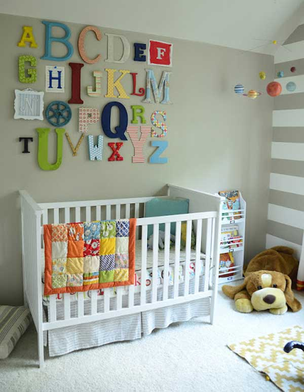 Wall Alphabet Decor Ad Baby Nursery Ideas 03