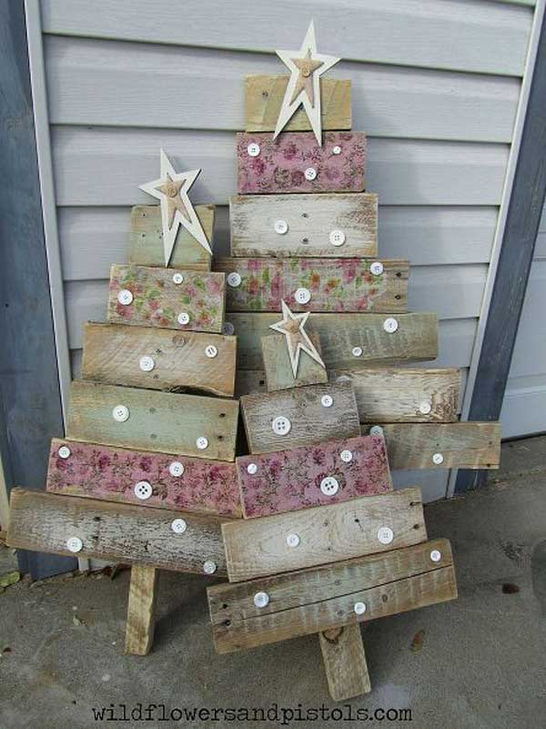 ad diy easy christmas trees 19 - Wooden Christmas Trees