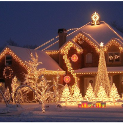 25 Mesmerizing Outdoor Christmas Lighting Ideas