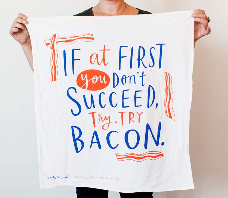 AD-Try Try Bacon Dish Towel