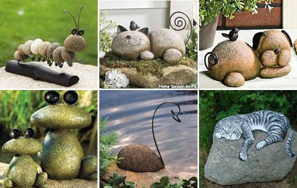 rock stone garden decor 16 - Garden Design Using Stones