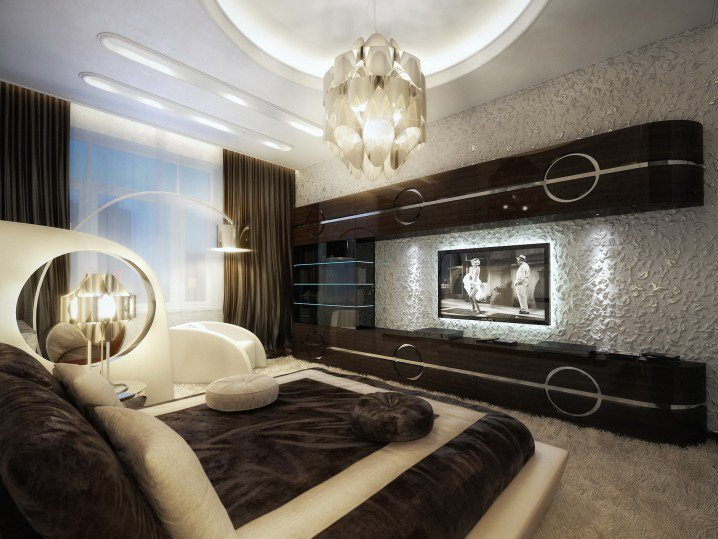 1 brown elegant bedroom luxury smart contemporary interior - Brown Bedroom 2015