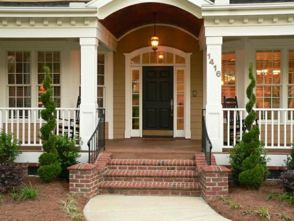 15 fabulous designs for your front entry for Front exterior home designs
