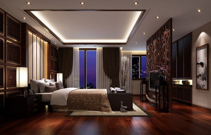 3-Dark-hardwood-flooring-ideas-for-bedroom-with-