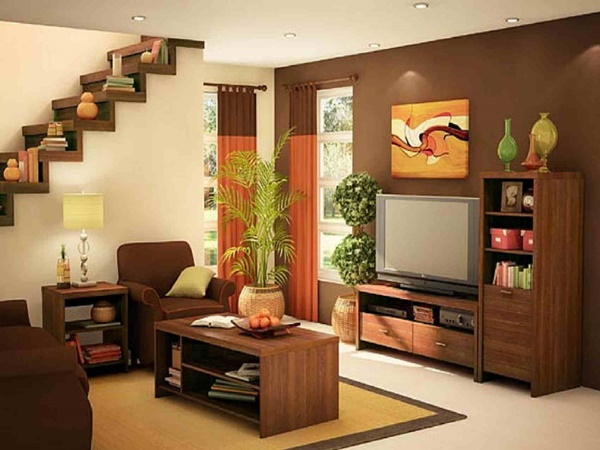 Wonderful Another Design For Low Budget With The Simple Furniture Such As A Cheap  Television, A Wooden Cheap Table, Cupboard, Etc. Even The Stars And The  Table Are ...
