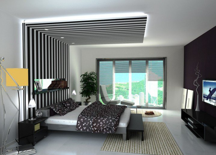 8 Contemporary Bedroom Lights With POP Ceiling Decor