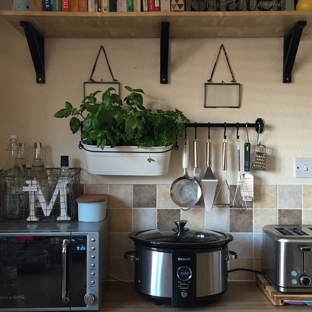 AD-Use wall space to hang utensils and free up your counters