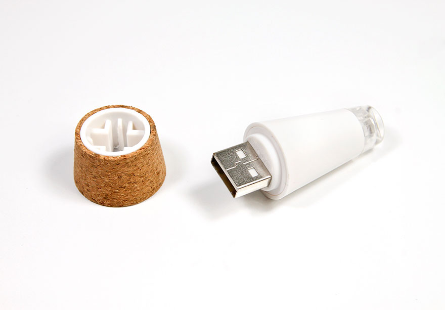Turn Old Bottles Into Lamps With Rechargeable Led Corks