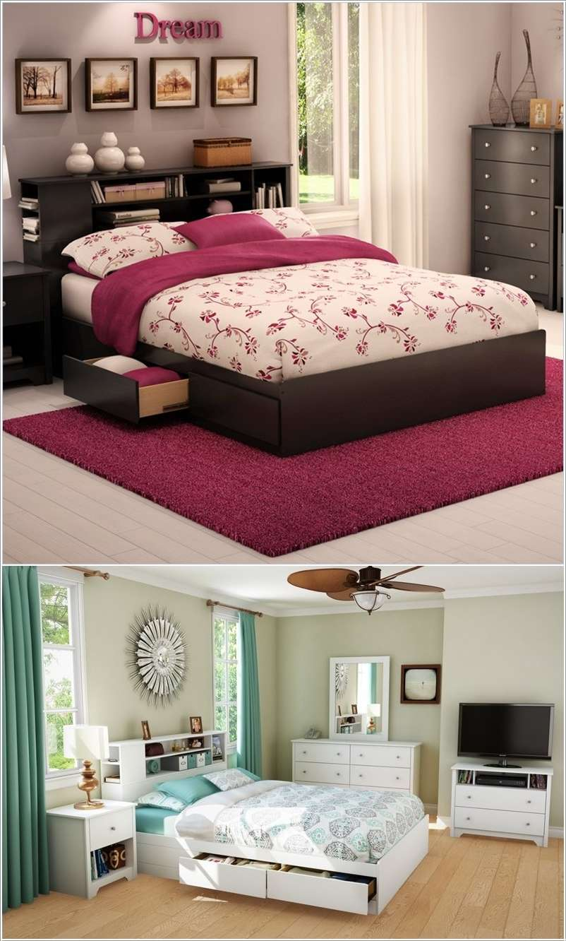 Clever ideas to use bedroom furniture for storage - How much to deep clean a 3 bedroom house ...