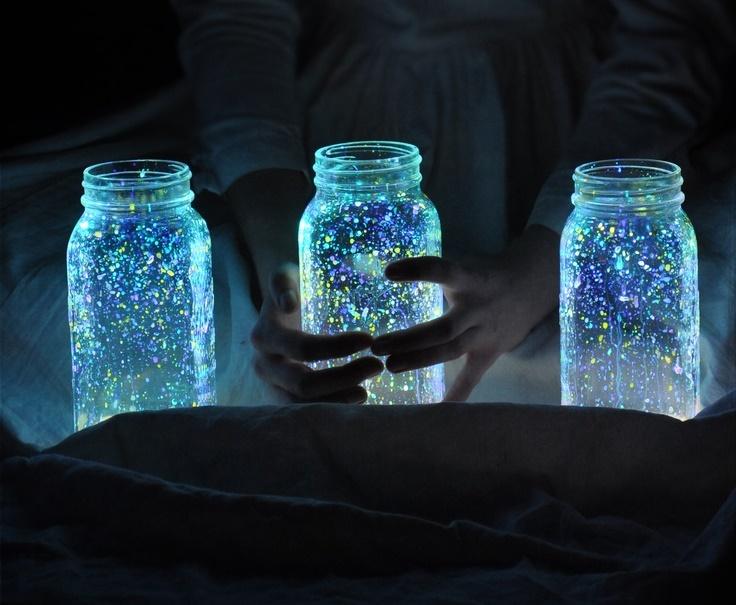 Fairy Night Light Jars Diy