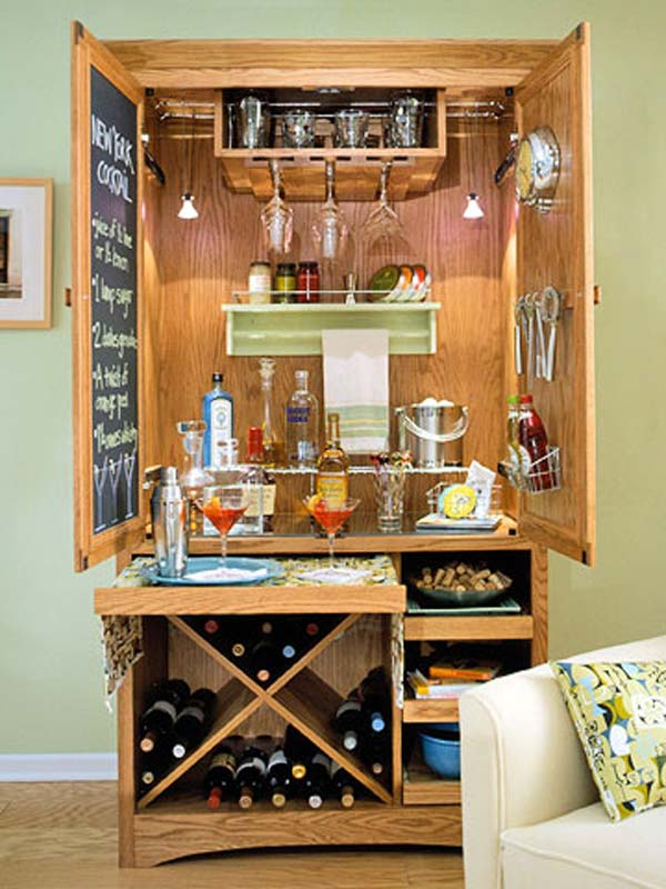 Turn A Closet Into A Bar Just B Cause
