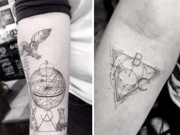 geometric tattoos by dr woo who s been experimenting with ink since he was 13 architecture. Black Bedroom Furniture Sets. Home Design Ideas