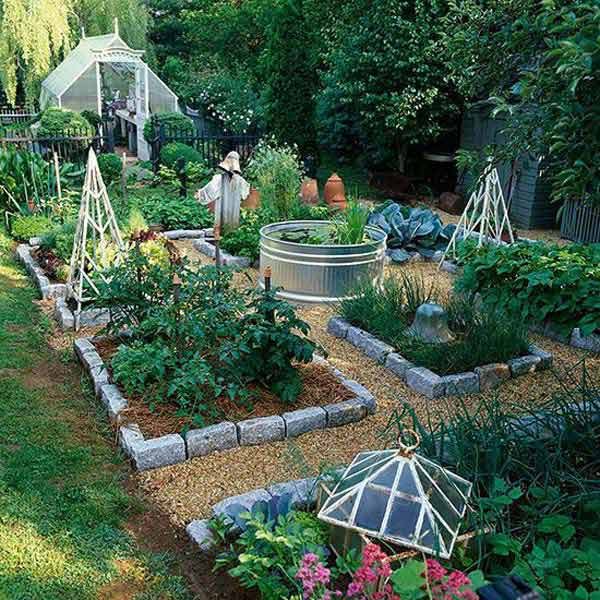 12 Amazing Ideas For Flower Beds Around Trees: Top 28 Surprisingly Awesome Garden Bed Edging Ideas