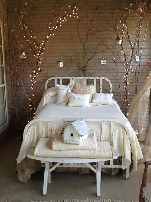 ad amazingly pretty ways to use string lights - Bedroom String Lights
