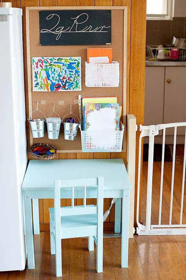 Kids Desk Ideas Homework Station Small Spaces