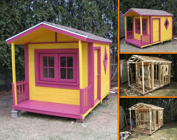 25 diy reclaimed wood projects for your homes outdoor for How to make a playhouse out of wood