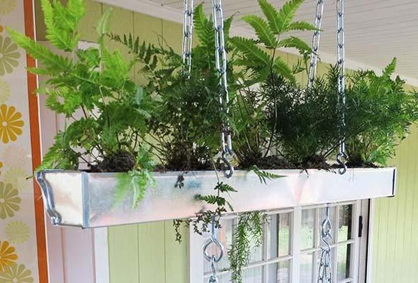 20 Inspirational Diy Ways To Repurpose Rain Gutters