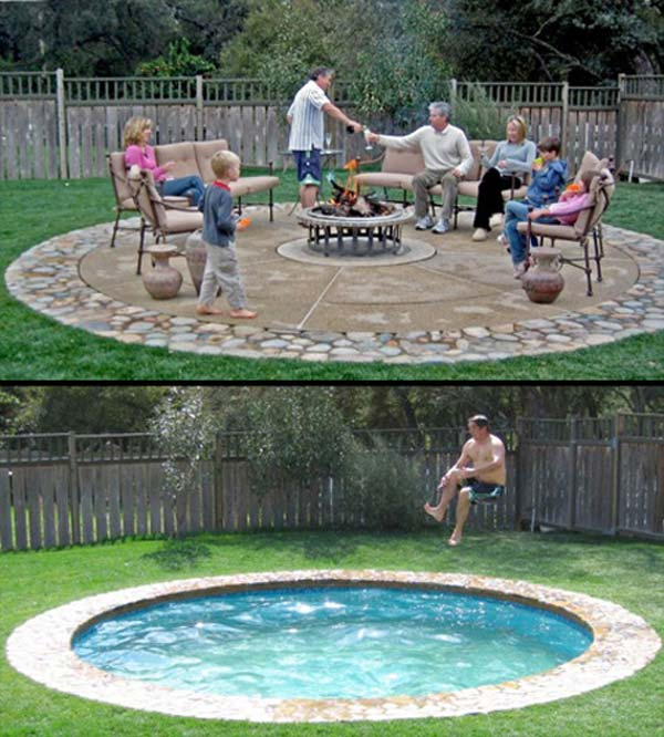 25 fabulous small backyard designs with swimming pool for Backyard inground pool ideas