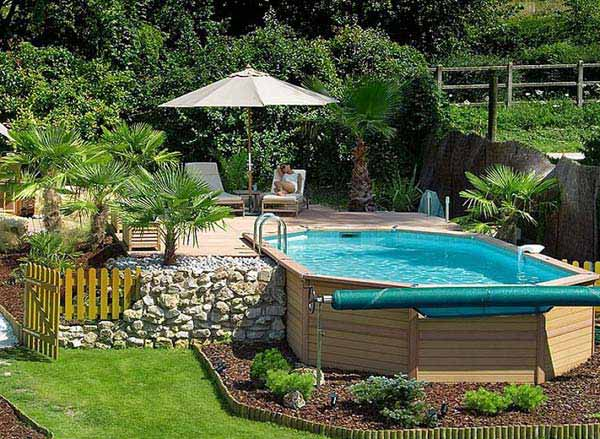 48 Fabulous Small Backyard Designs With Swimming Pool Simple Backyard Designs With Pool