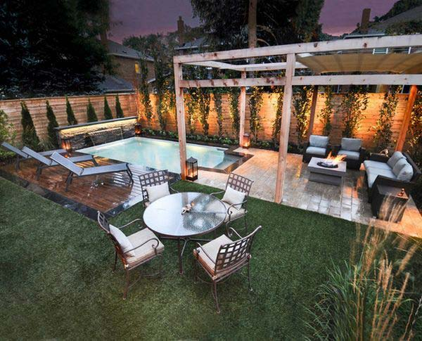 25 fabulous small backyard designs with swimming pool for Small backyard design ideas