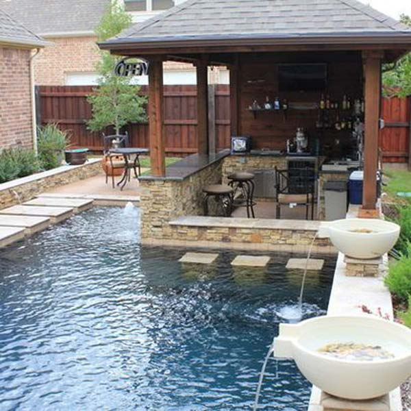 ad small backyard pool 8 - Small Yard Design Ideas