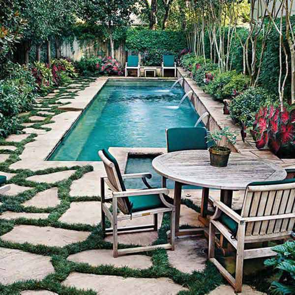 48 Fabulous Small Backyard Designs With Swimming Pool Unique Backyard Designs With Pool