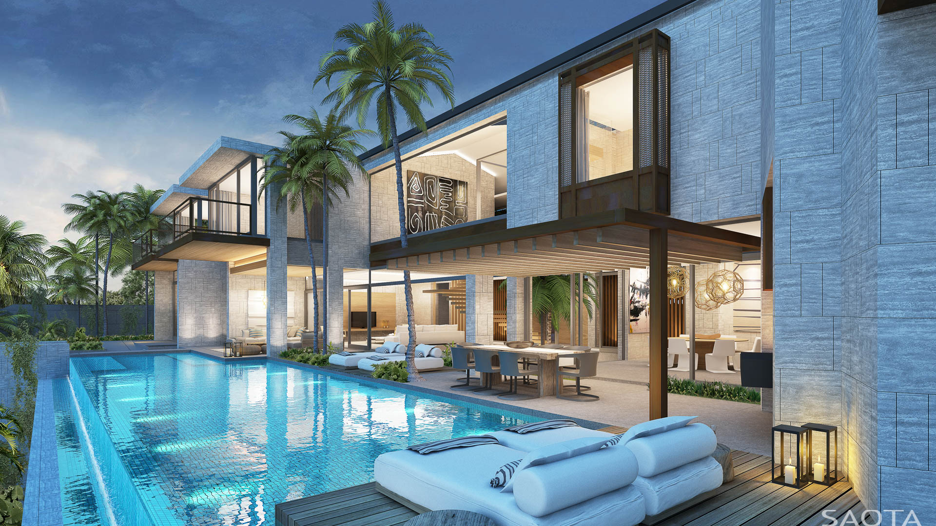 30 yet to be built modern dream homes by saota part 1 architecture design - Casa con piscina ...