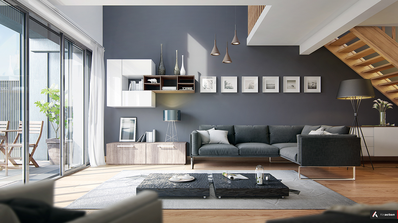 30 Modern Style Houses Design Ideas For 2016. High Ceiling Living Room ...