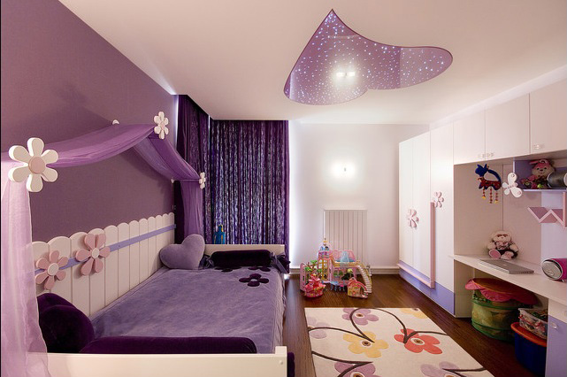 15+ Awesome Purple Girls Bedroom Designs | Architecture & Design